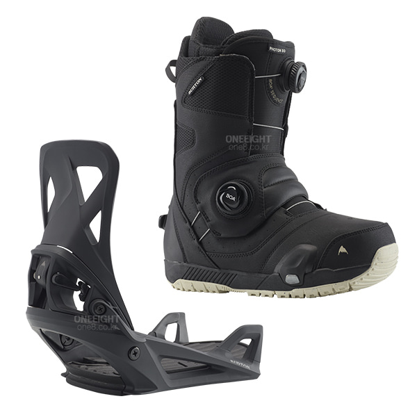 버튼 결합식 부츠+바인딩 세트 포톤 스텝온_1920 BURTON PHOTON(ASIAN Fit) STEP ON SET_BOOTS:BLACK/BINDING:BLACK SHIFT_