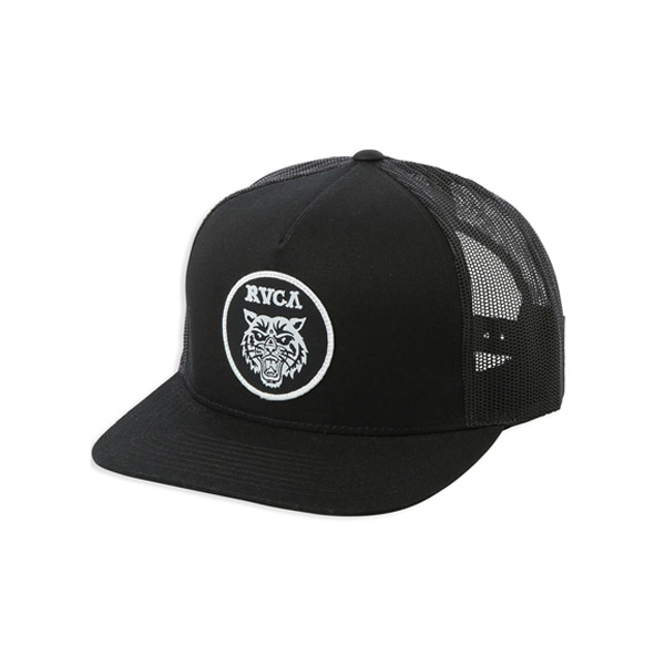 RVCA/루카 매쉬캡 서핑모자 IRA906BK [08] / BLK (BLACK) RVCA TIGER PATCH TRUCKER MAHWTRTP