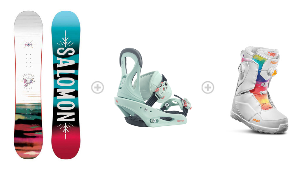 [S590] 데크 : SALOMON WMS LOTUS 바인딩 : SALOMON WMS SPELL 부츠 : 32_WMS LASHED DOUBLE BOA_WHITE 1SA89600+3SA896WH+532911WH
