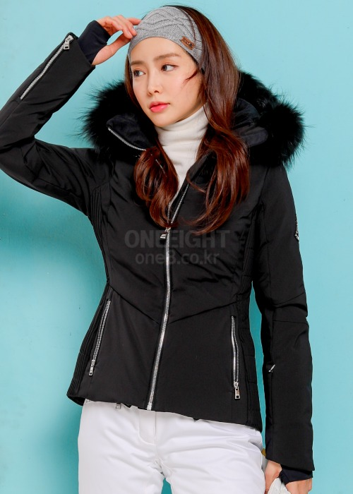 피닉스 여성 스키복 클로에 다운자켓+퍼_CP4801BK_PHENIX WMS CHLOE HYBRID DOWN JACKET WITH FUR_BK_B8P4801BK