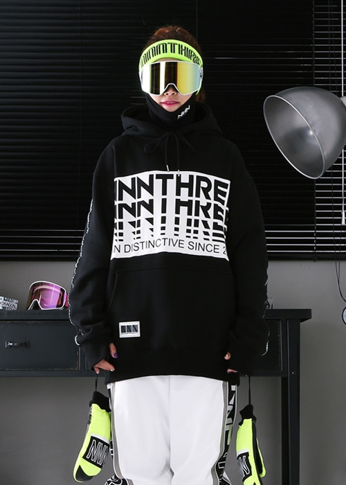 엔쓰리 후드_남녀공용_1920 NNN_NTHREE HOOD_BLACK/WHITE_RN3905BE[20]