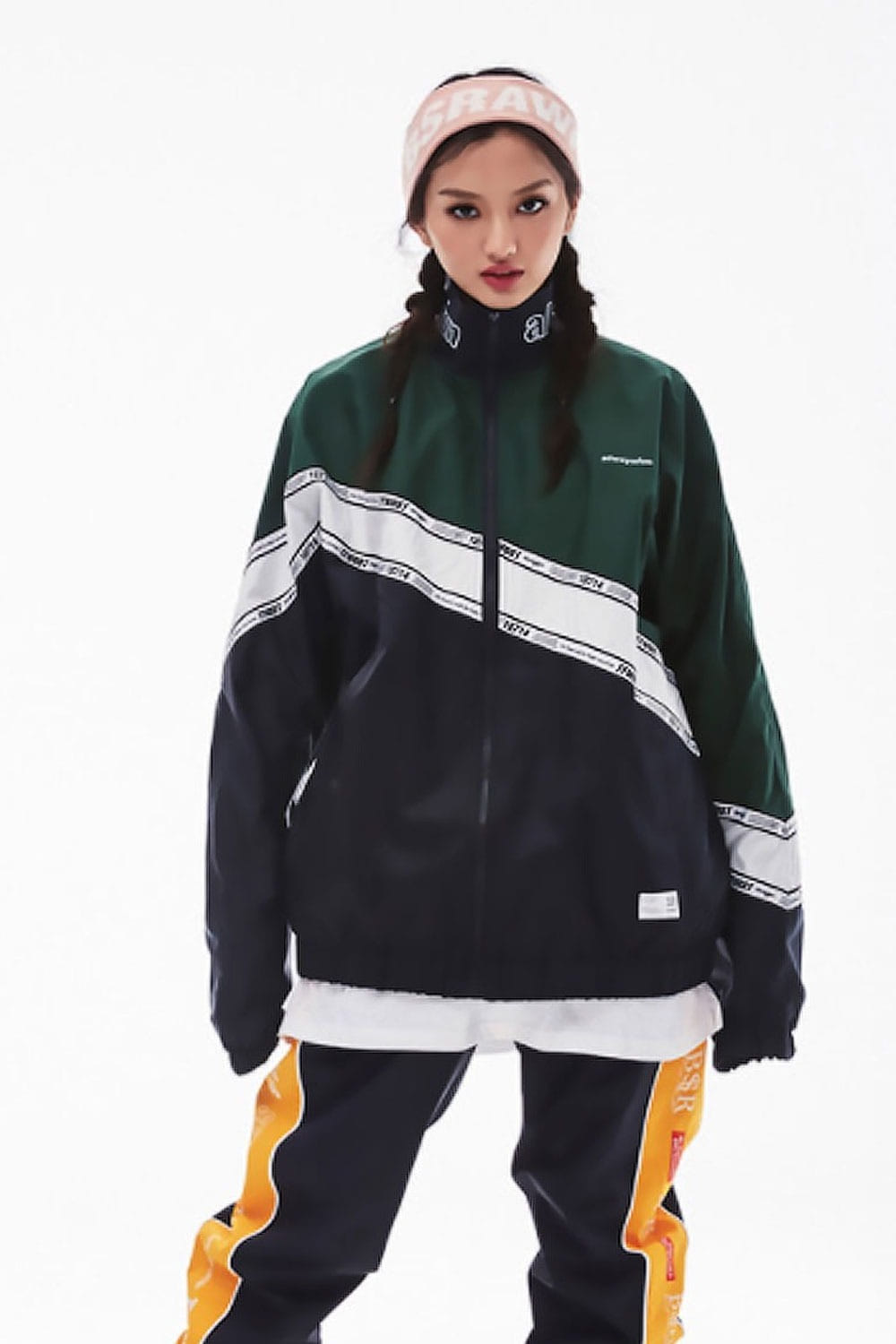 비에스래빗 남여공용 보드복 트랙 자켓 7BS801NV/NAVY 1819 BSRABBIT DIAGONAL LINE TRACK JACKET _A7BS801NV